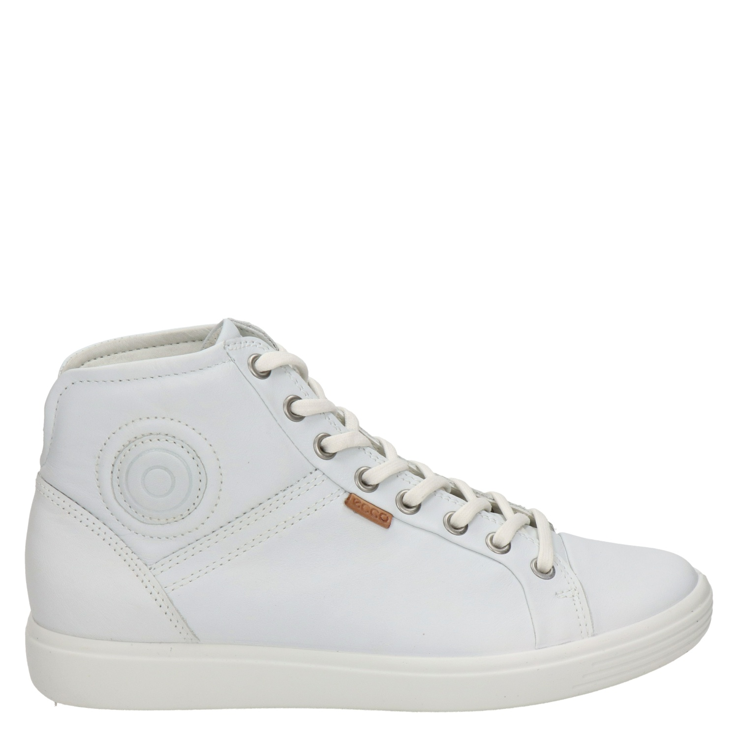 Ecco Soft 7 dames hoge sneakers wit