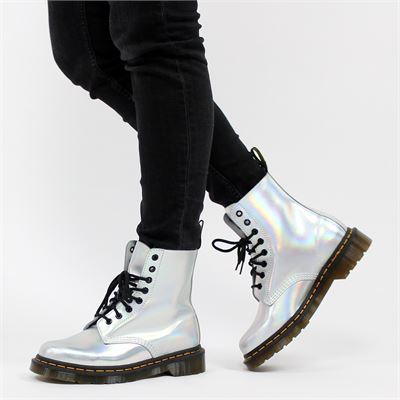 Dr. Martens dames boots zilver