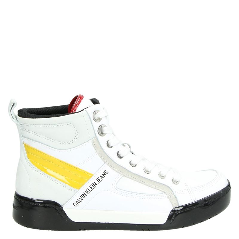 Calvin Klein Nikole - Hoge sneakers - Wit