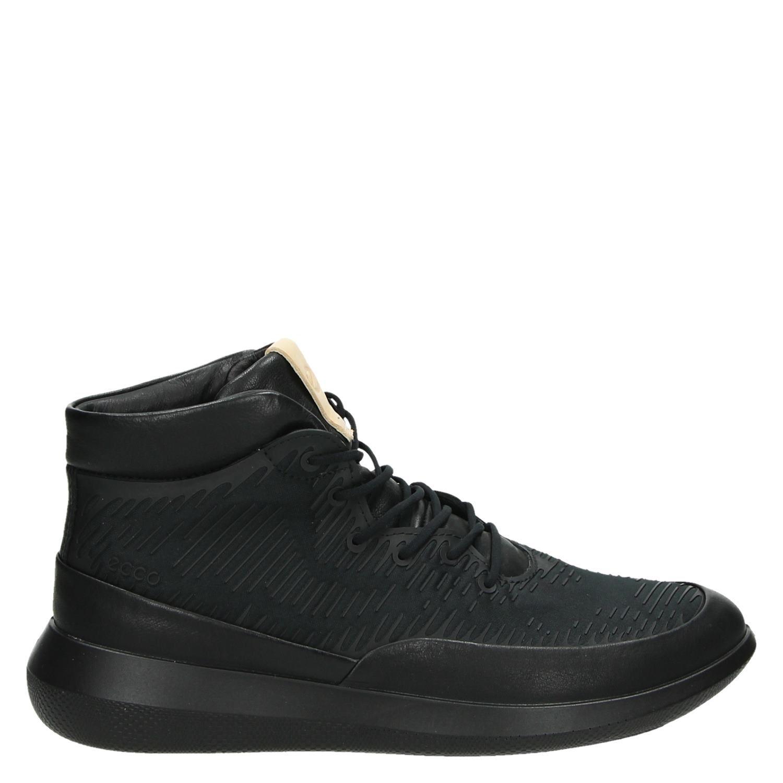 Ecco De Hautes Chaussures De Sport Noires MGH9t