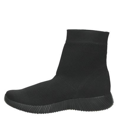 Claudia Ghizzani dames hoge sneakers Zwart