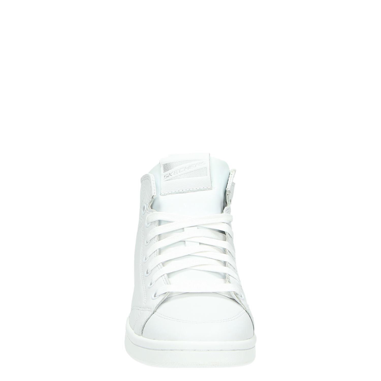 0a191c610fa Skechers dames hoge sneakers wit