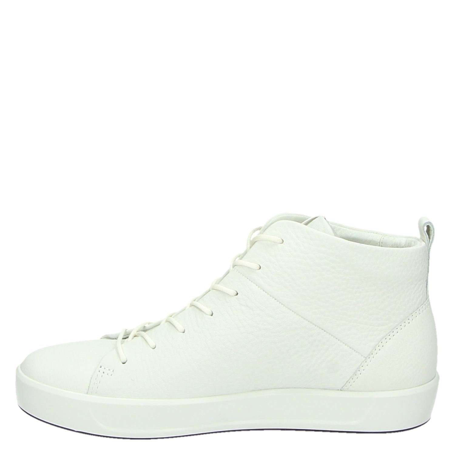 Ecco Soft 8 dames hoge sneakers wit