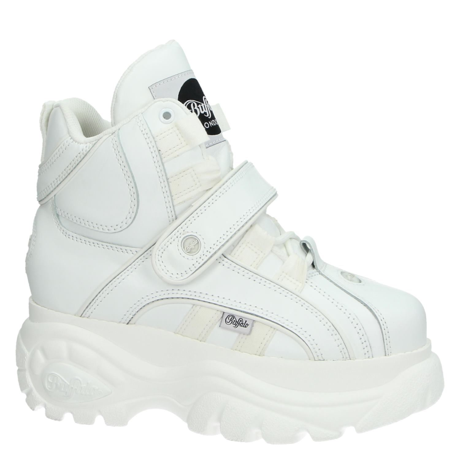 reputable site 29925 7ebe8 Buffalo Classics High dames dad sneakers wit