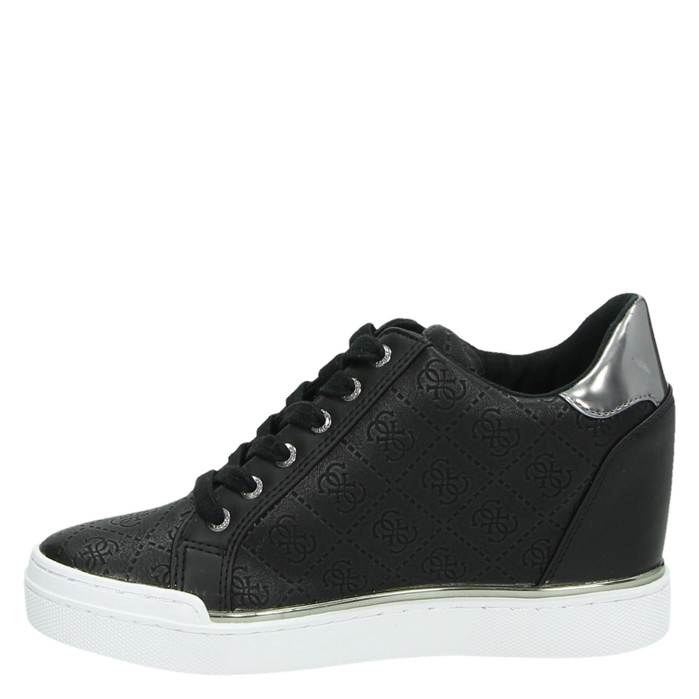 e47af60ce95 Guess Flowurs dames hoge sneakers zwart