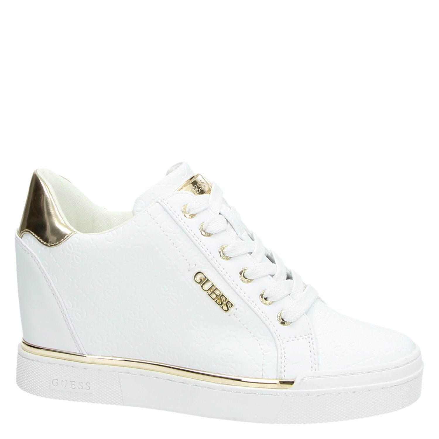 a33a02801a5 Guess Flowurs dames hoge sneakers wit