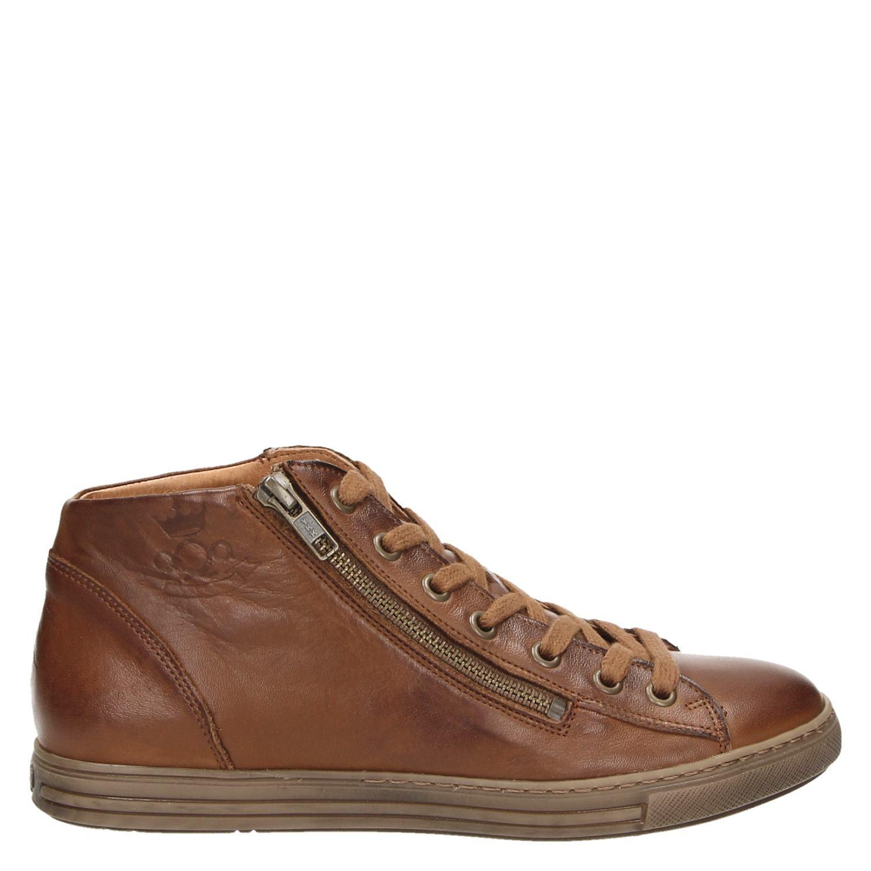 Aqa Perte De Velours Cognac Hoge Sneakers M0TPfcSiY