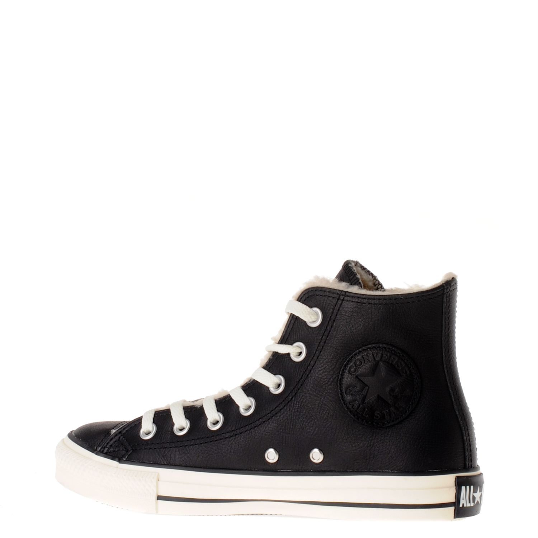 converse leren sneakers dames