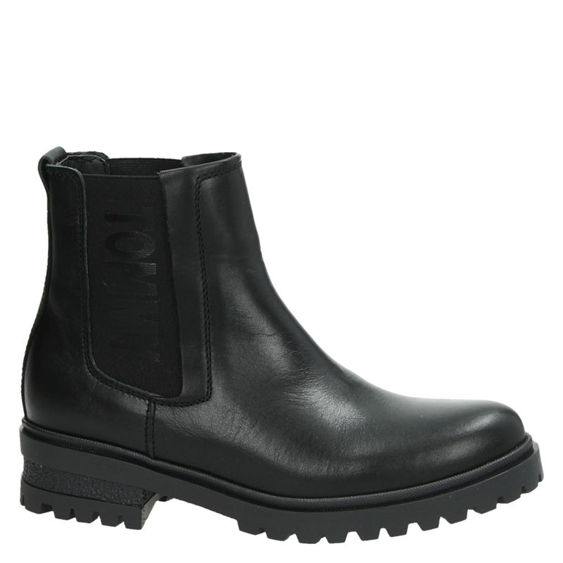 Tommy Jeans Essential Cleated - Chelseaboots - Zwart