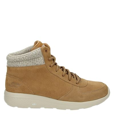 Skechers dames sneakers cognac
