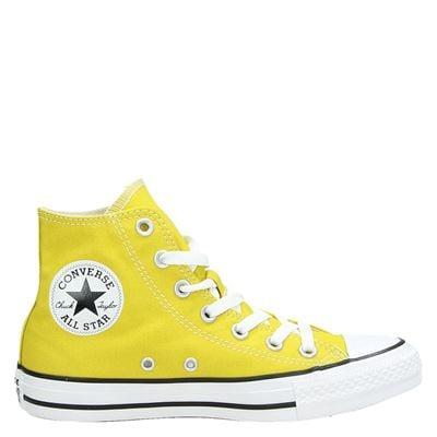 Converse dames hoge sneakers geel