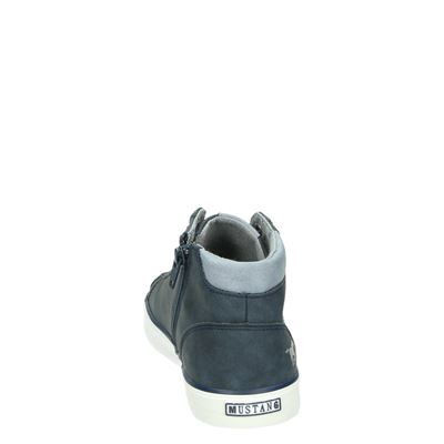 Mustang dames hoge sneakers Blauw