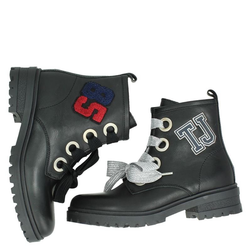 Tommy Jeans Varsity Cleated Lace - Veterboots - Zwart