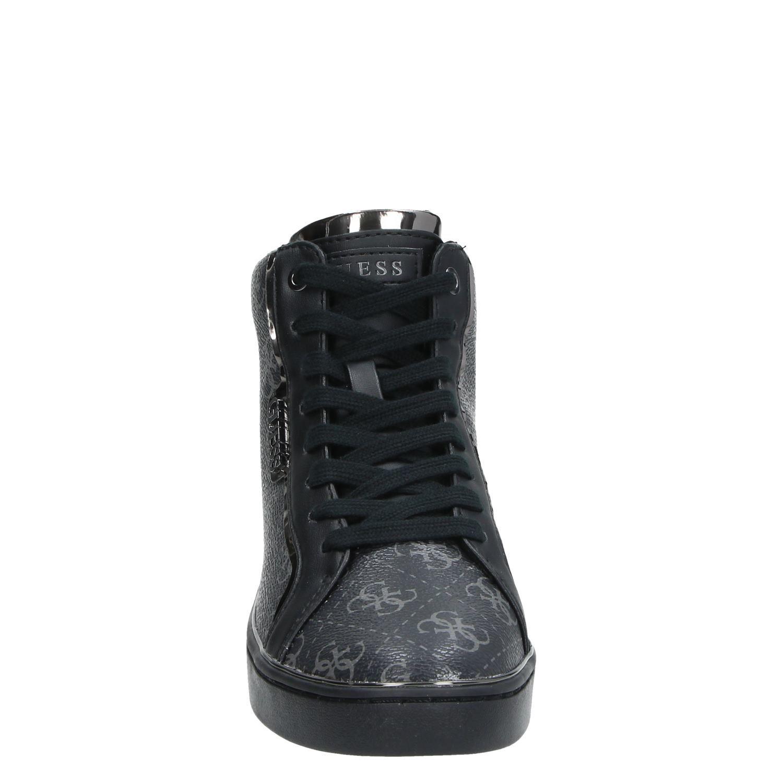 Guess - Hoge sneakers voor dames - Zwart 9P93xLH