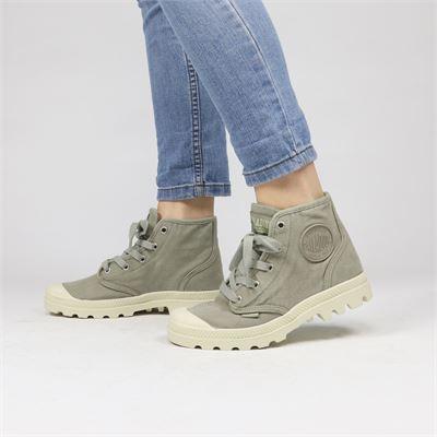 Palladium dames boots grijs