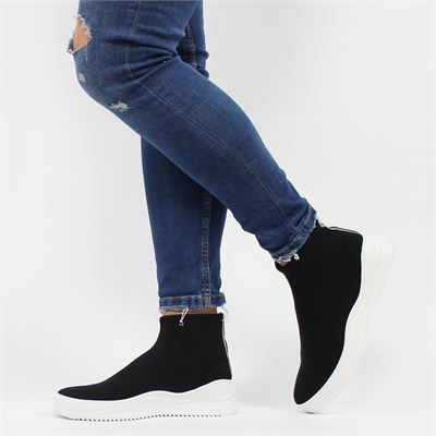 Bronx dames sneakers zwart