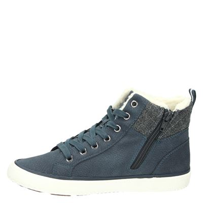 S.Oliver dames hoge sneakers Blauw