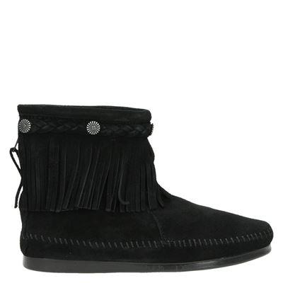 Minnetonka dames laarzen zwart