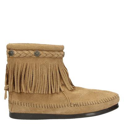 Minnetonka dames laarzen taupe