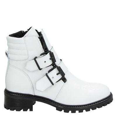 PS Poelman dames laarsjes & boots wit
