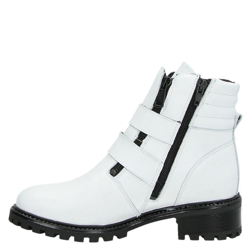 PS Poelman - Rits- & gesloten boots - Wit