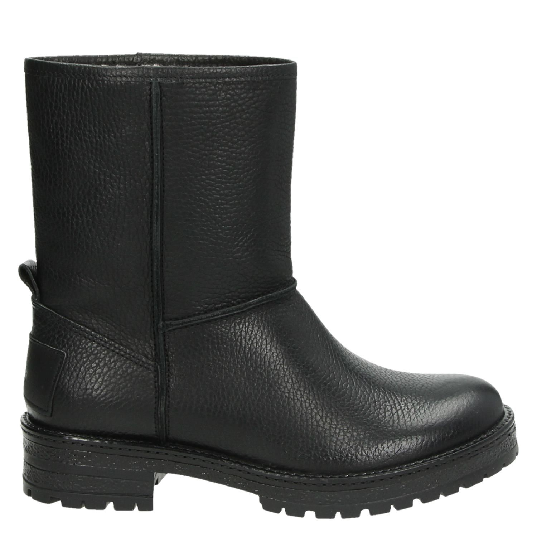 Chaussures Noires De Boxeur De Taureau Avec Bloc Poche Talon Pour Dames S4jotvVkq