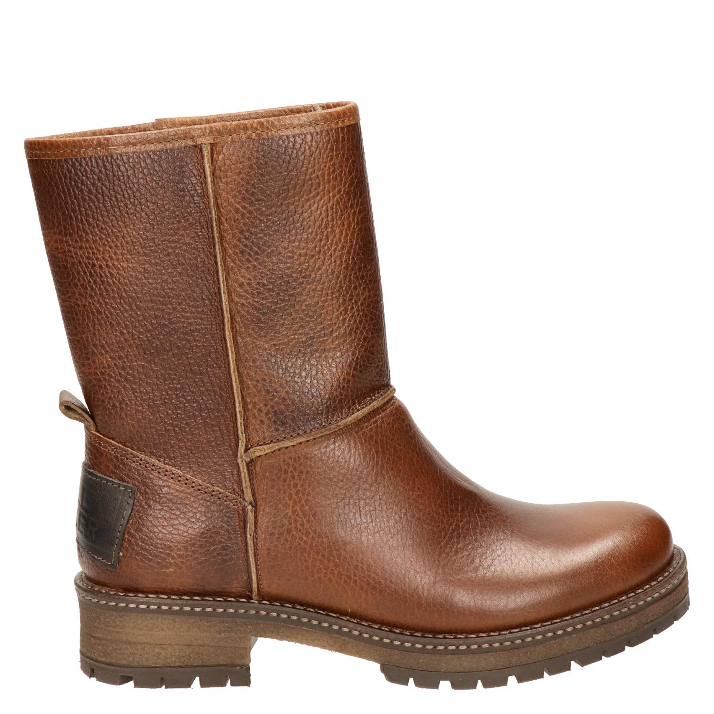 224b7b95279 Bullboxer dames rits- & gesloten boots cognac