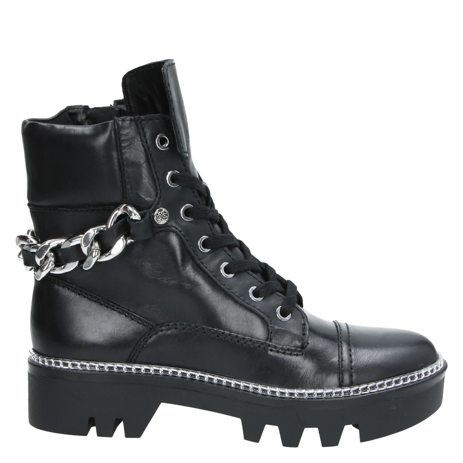 newest 8c02a e24df Guess Domain stivaleTTO dames veterboots zwart