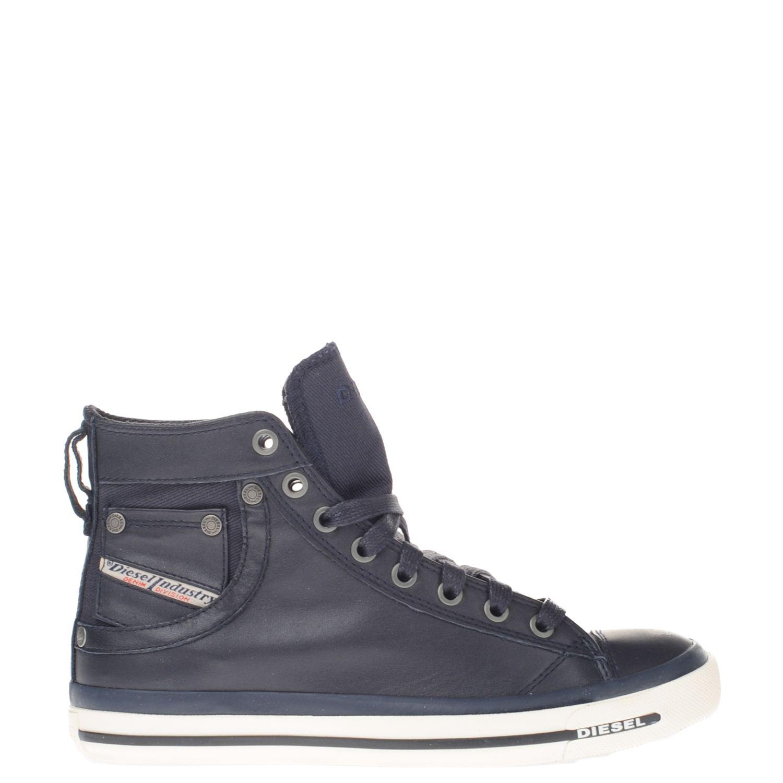 blauwe hoge sneakers dames