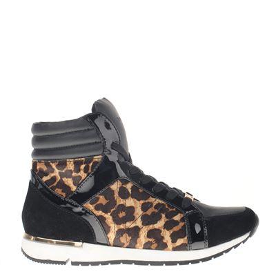 Supertrash dames hoge sneakers zwart