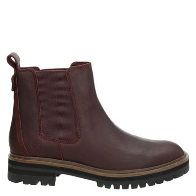 Timberland dames chelseaboots rood