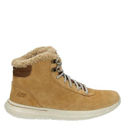 Skechers dames boots cognac