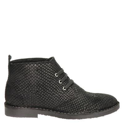 Hobb's dames veterschoenen zwart