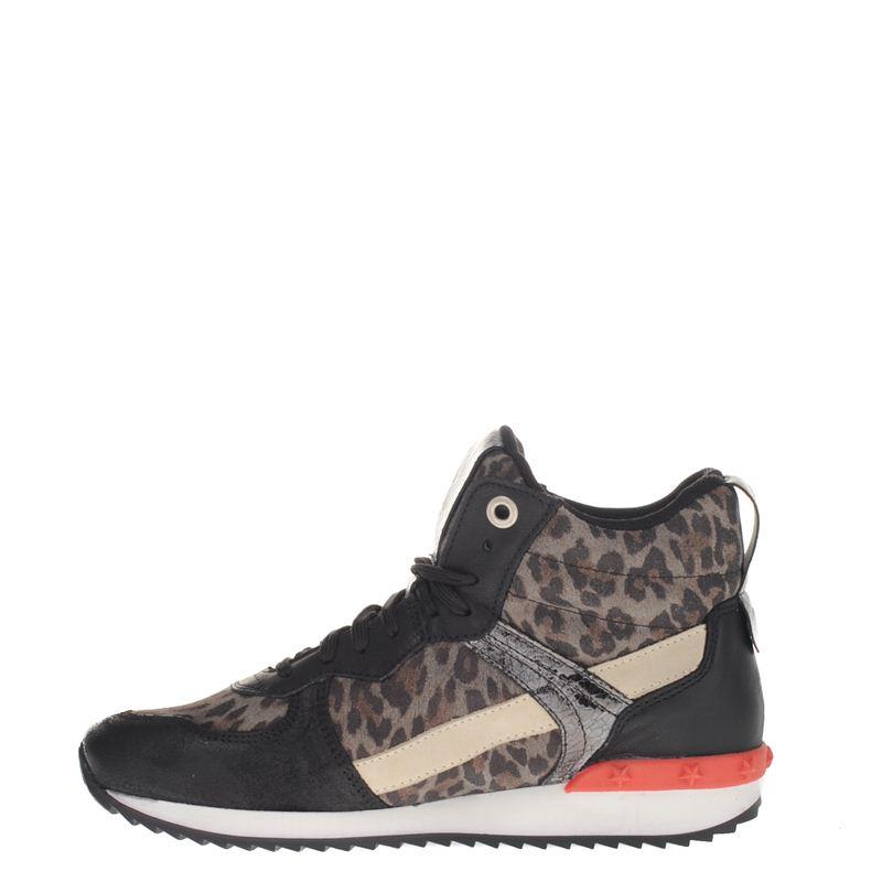 Poelman dames sneakers zwart, 241.634.30-19-4
