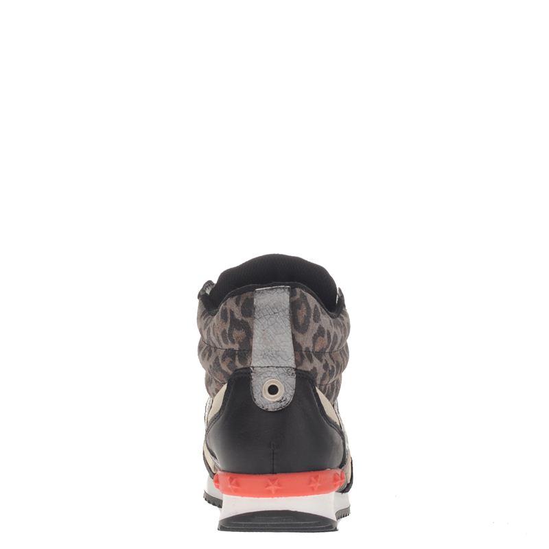 Poelman dames sneakers zwart, 241.634.30-19-5