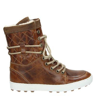 Nelson dames sneakers bruin