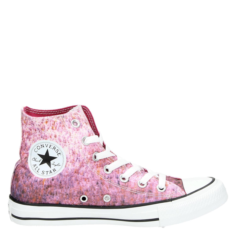 Roze All Star Dames Hoge Converse Sneakers wOPXiukZT