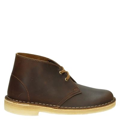 Clarks Originals dames veterschoenen bruin