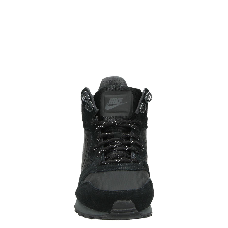 Nike MD Runner 2 dames hoge sneakers zwart