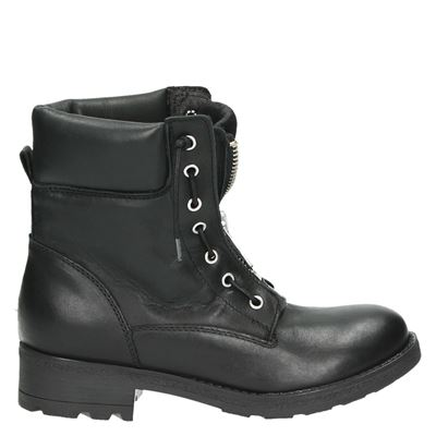PS Poelman dames veterboots zwart
