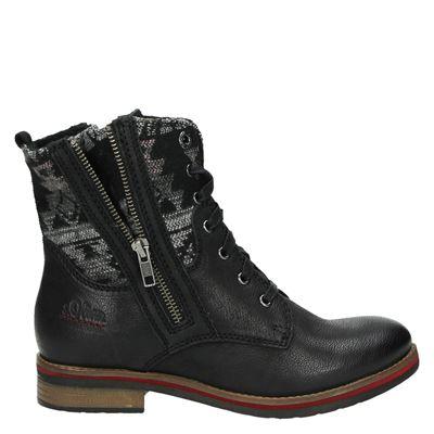 S.Oliver dames laarzen zwart