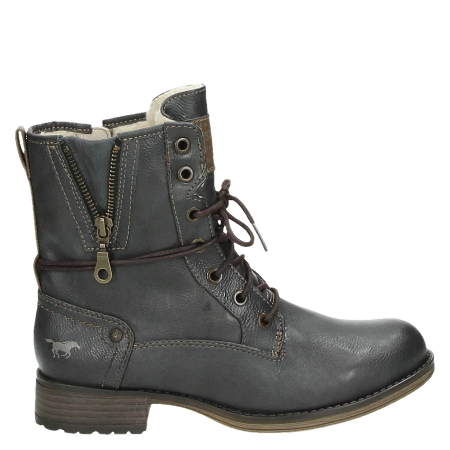 Gris Chaussure À Lacet Mustang 90wg120B