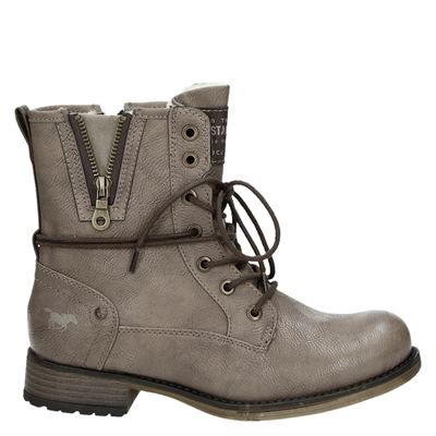 Mustang dames veterboots taupe