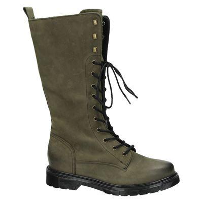 PS Poelman dames hoge laarzen Groen