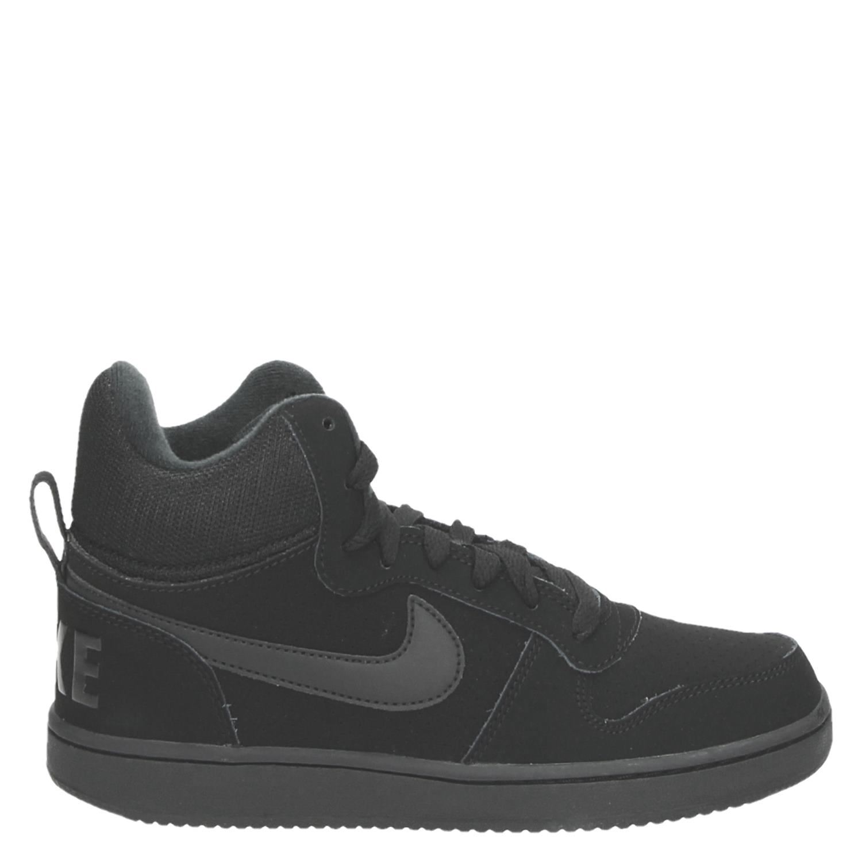 Nike Court Borough Mid dames hoge sneakers zwart