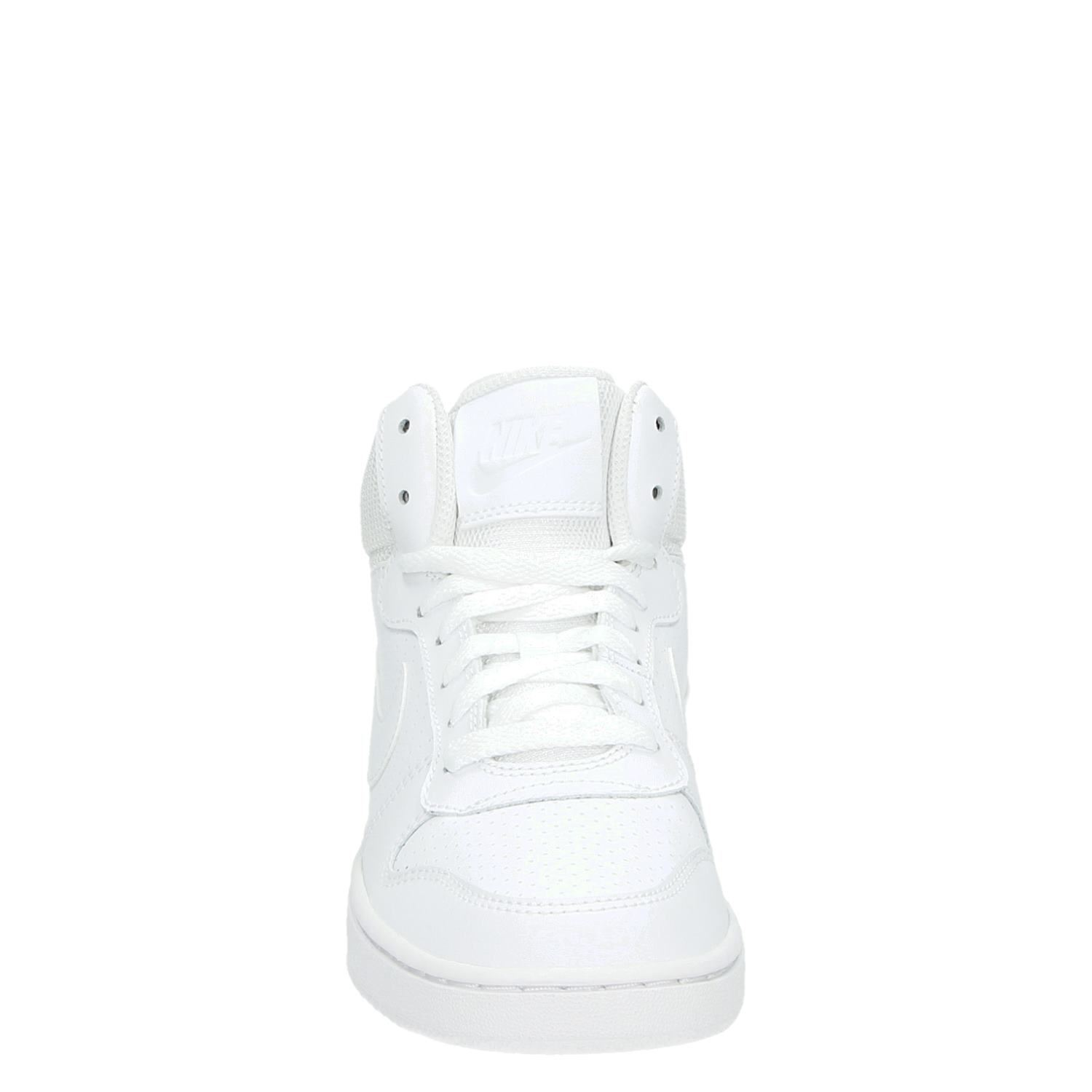 Nike Court Borough Mid dames hoge sneakers wit