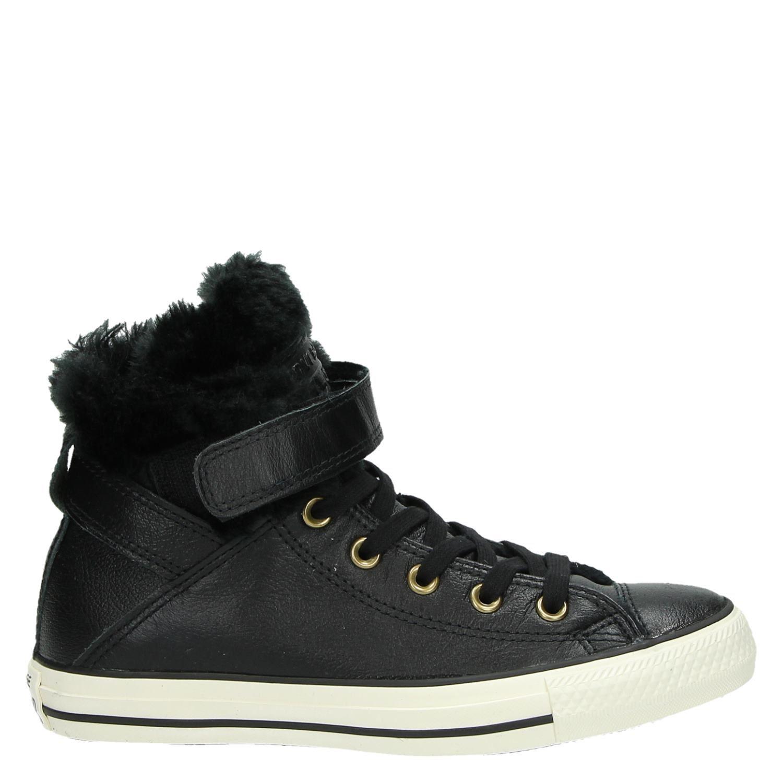 dcd39ae1038 Converse dames hoge sneakers zwart