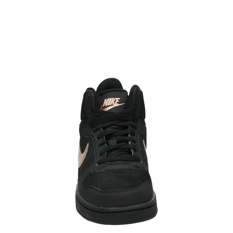 Nike Court Borough dames hoge sneakers zwart