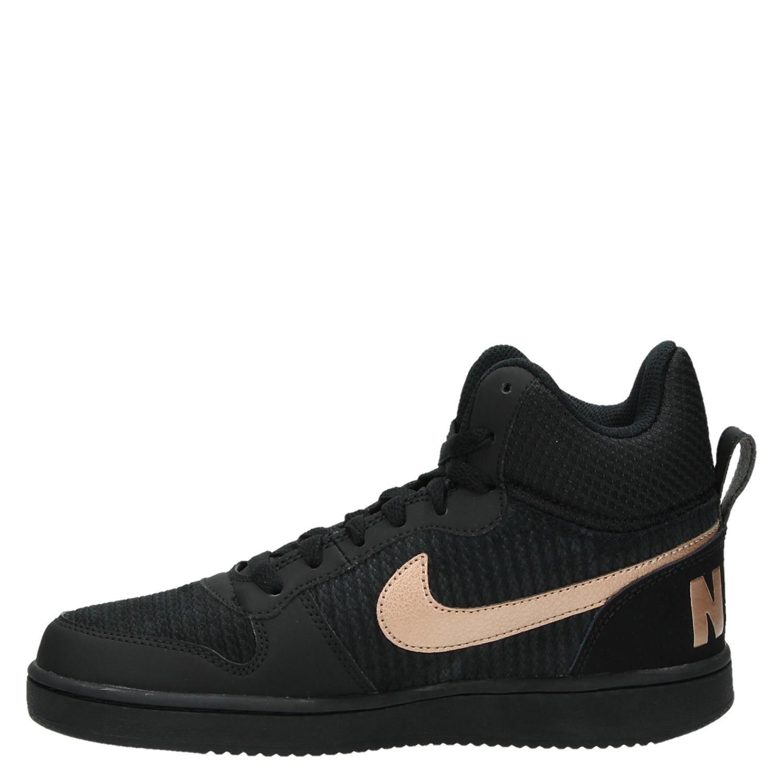 0b5071c6686 Nike Court Borough dames hoge sneakers zwart