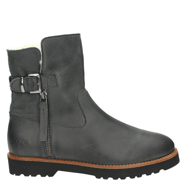 Aqa Chaussures Noir Avec Fermeture Éclair Pour Les Femmes KcdNTd6oM